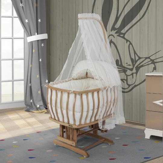 Natürel Prestij Beyaz Sepet Beşik
